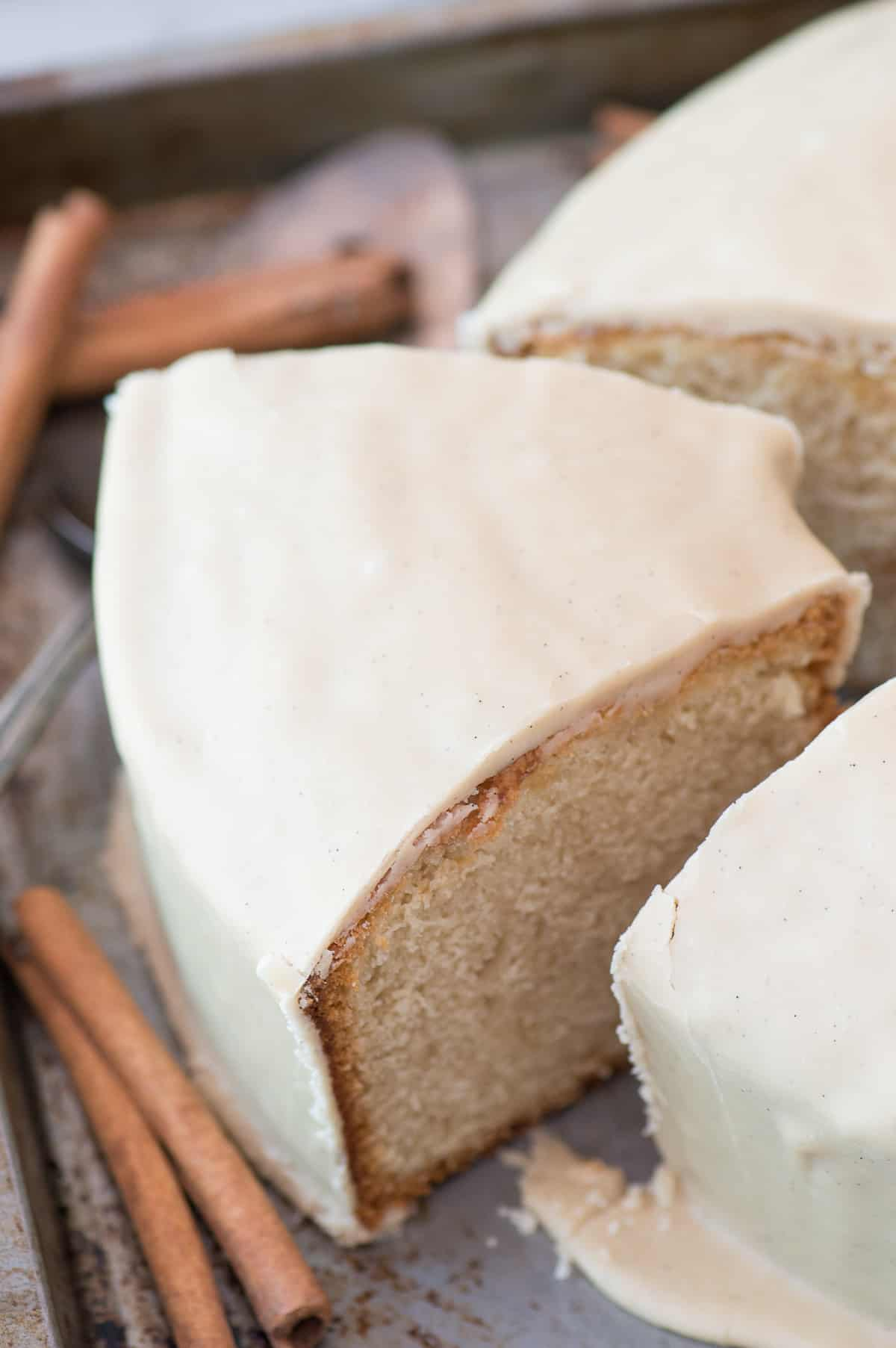 This rich and comforting brown sugar pound cake is a staple in our family! We bring it to potlucks and neighborhood parties!