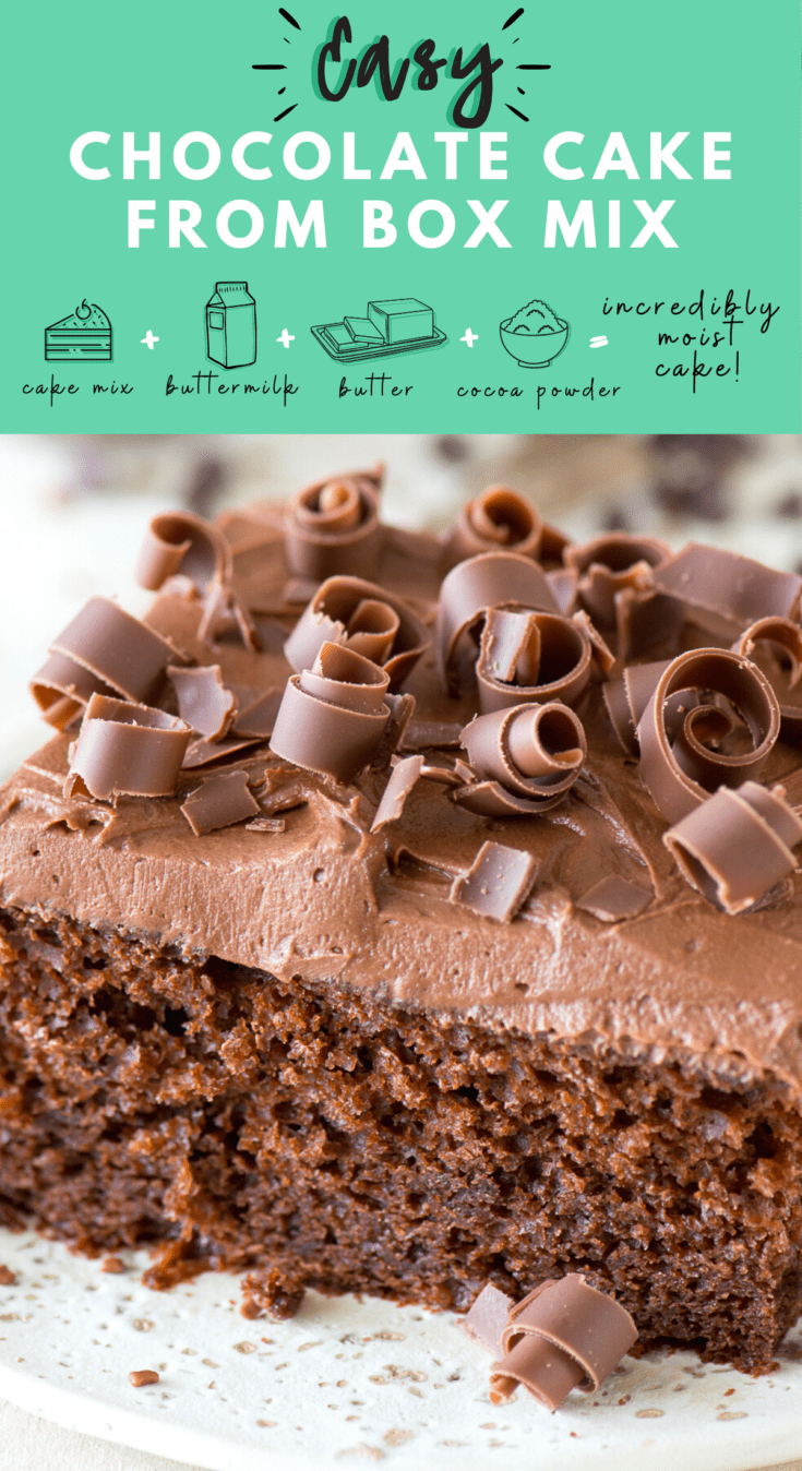 Easy Chocolate Cake From Box Mix Incredibly Moist