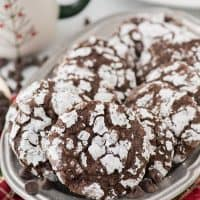 So many people have asked for this classic christmas cookie - these Chocolate Crinkle Cookies are so chocolatey and fudgy!