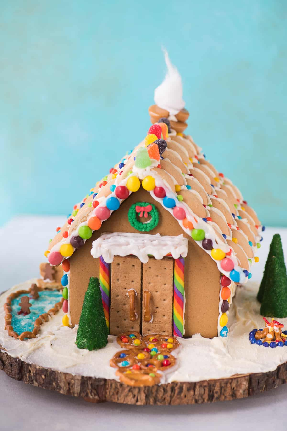 Holiday gingerbread house the first year get some inspiration for your holiday gingerbread house decorating with our gingerbread house tutorial and video solutioingenieria Images