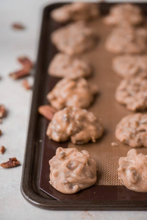 Learn how to make classic pecan pralines at home with our tips. These pecan pralines are buttery, sugary with a nice crunch and highly addicting!