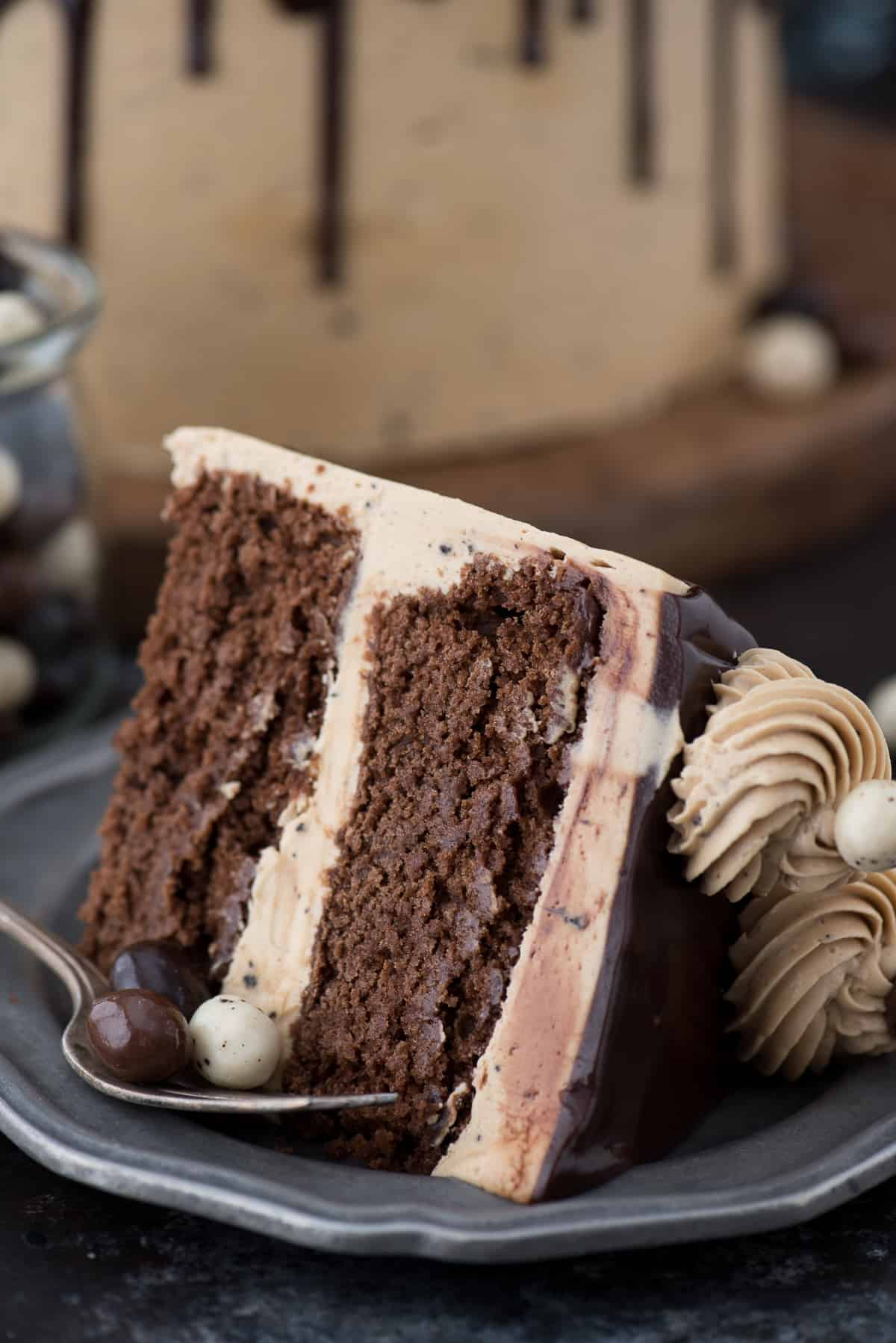 2 layer chocolate espresso cake - this cake got rave reviews! Everyone loves the pairing of chocolate & coffee!