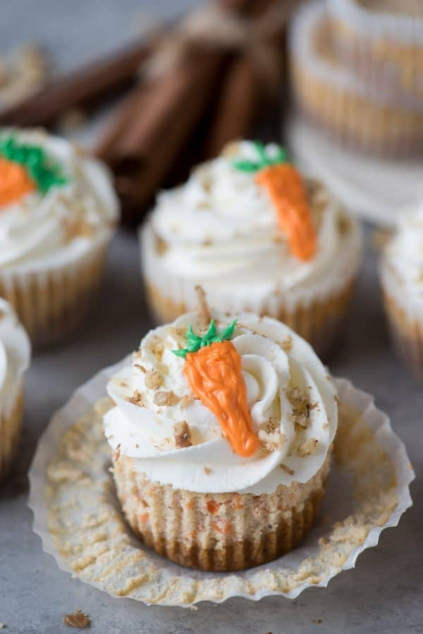 Mini Carrot Cake Cheesecakes