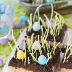 Egg Hunt Sugar Cookie Bars are a fun Easter dessert recipe to make with your kids!
