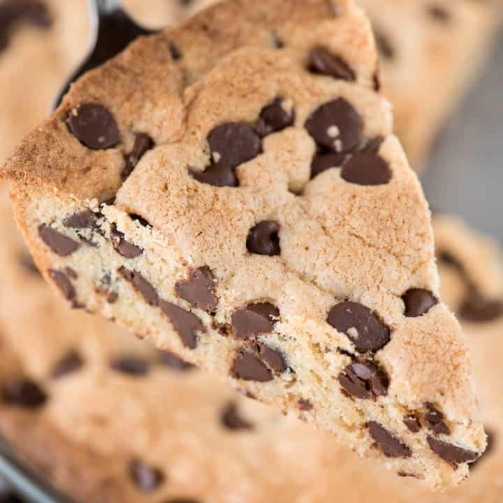 Peanut Butter Chocolate Chip Cookie Pie