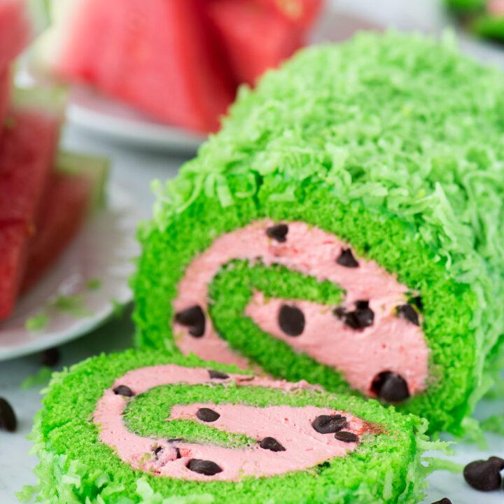 Watermelon Cake Roll