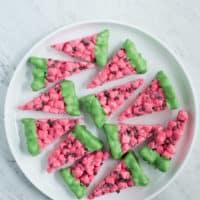 Watermelon Marshmallow Slices