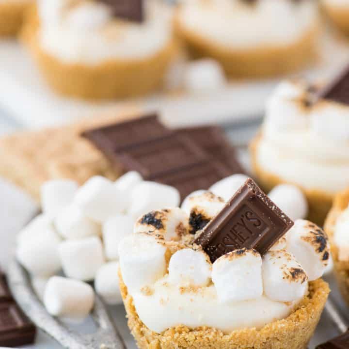 No Bake S'mores Cheesecake Cups