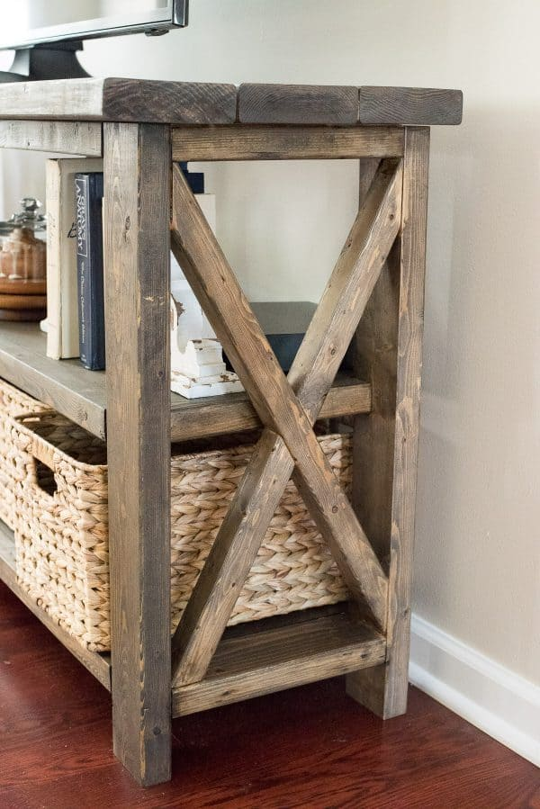 Peachy Rustic Farmhouse Console Table The First Year Beatyapartments Chair Design Images Beatyapartmentscom