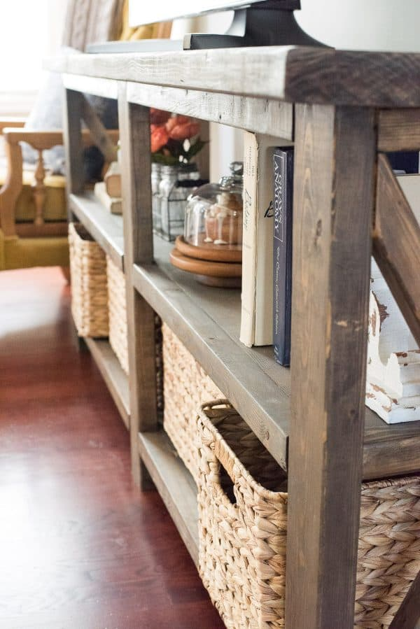 Rustic Farmhouse Console Table The First Year