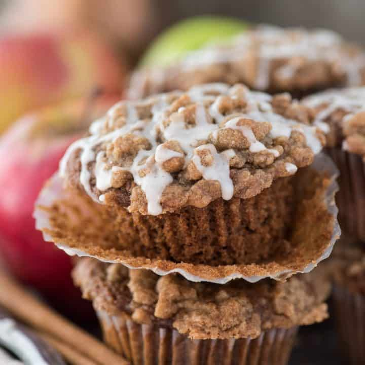 Applesauce Spice Crumb Muffins