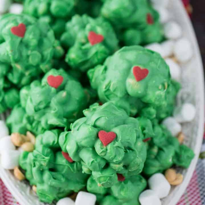 Grinch Peanut Marshmallow Clusters