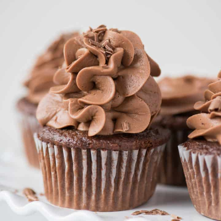 Doctored Up Chocolate Cupcakes