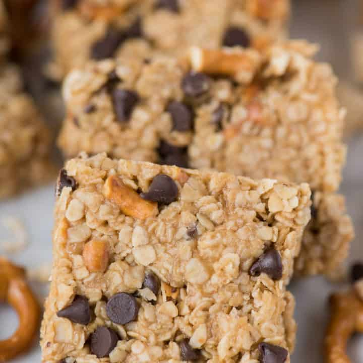 No Bake Granola Bars with Peanut Butter and Honey
