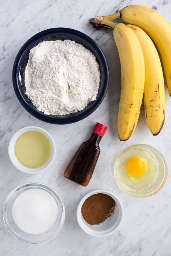 ingredients used to make banana muffins