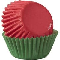 Red & Green Mini Cupcake Liners