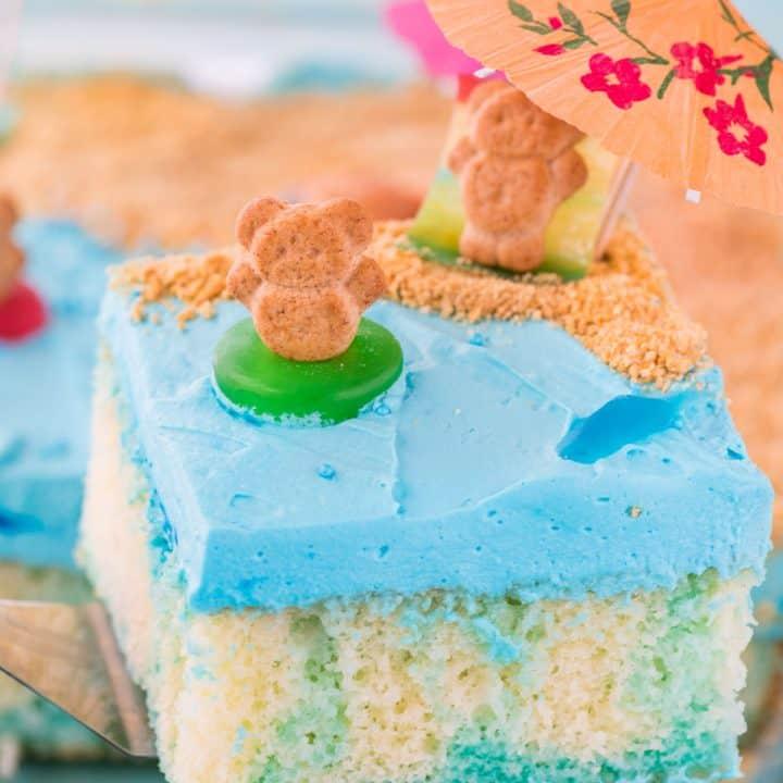 Beach Poke Cake
