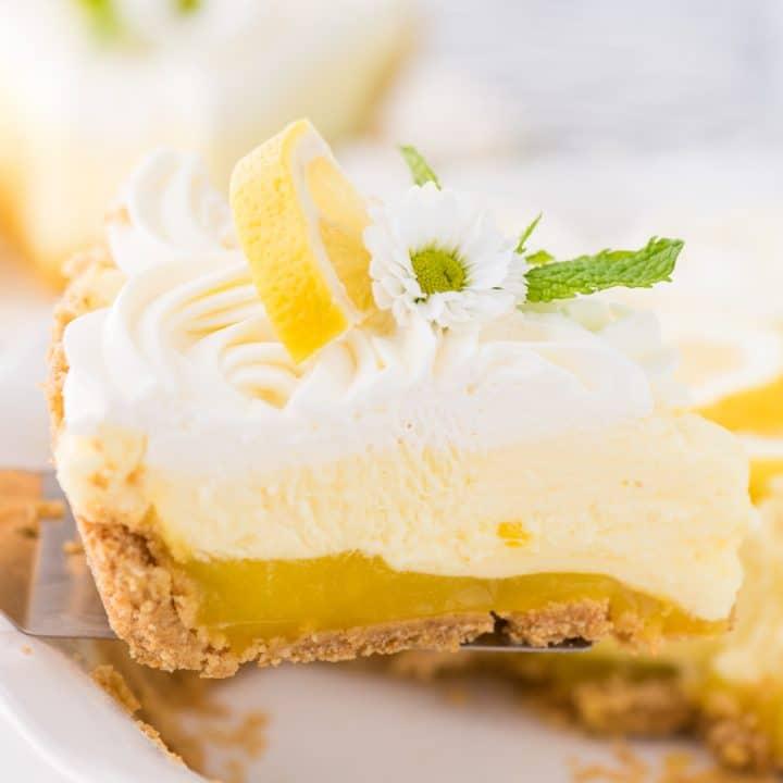 No Bake Lemon Pudding Pie