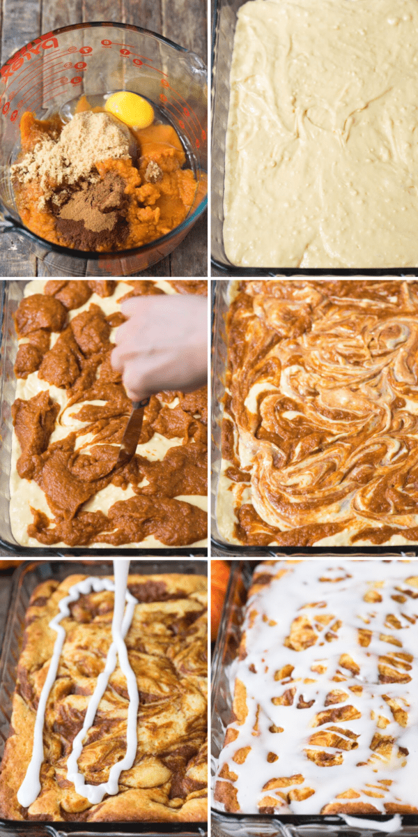 how to make easy pumpkin cake with cake mix collage