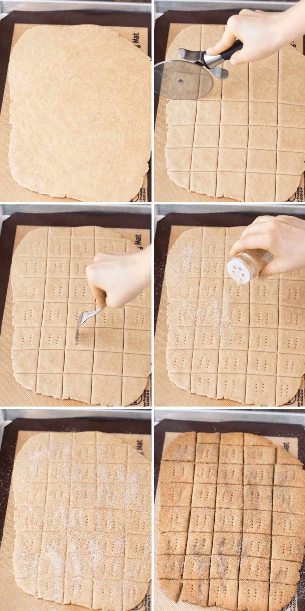 how to roll out pumpkin graham crackers collage