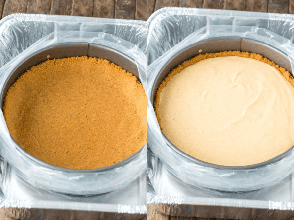 how to bake cheesecake in a water bath