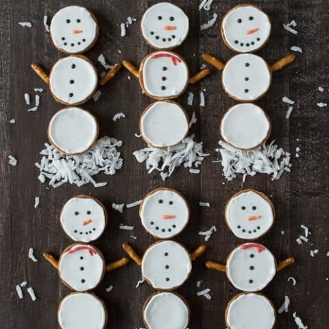 Nilla Wafer Snowmen Cookies