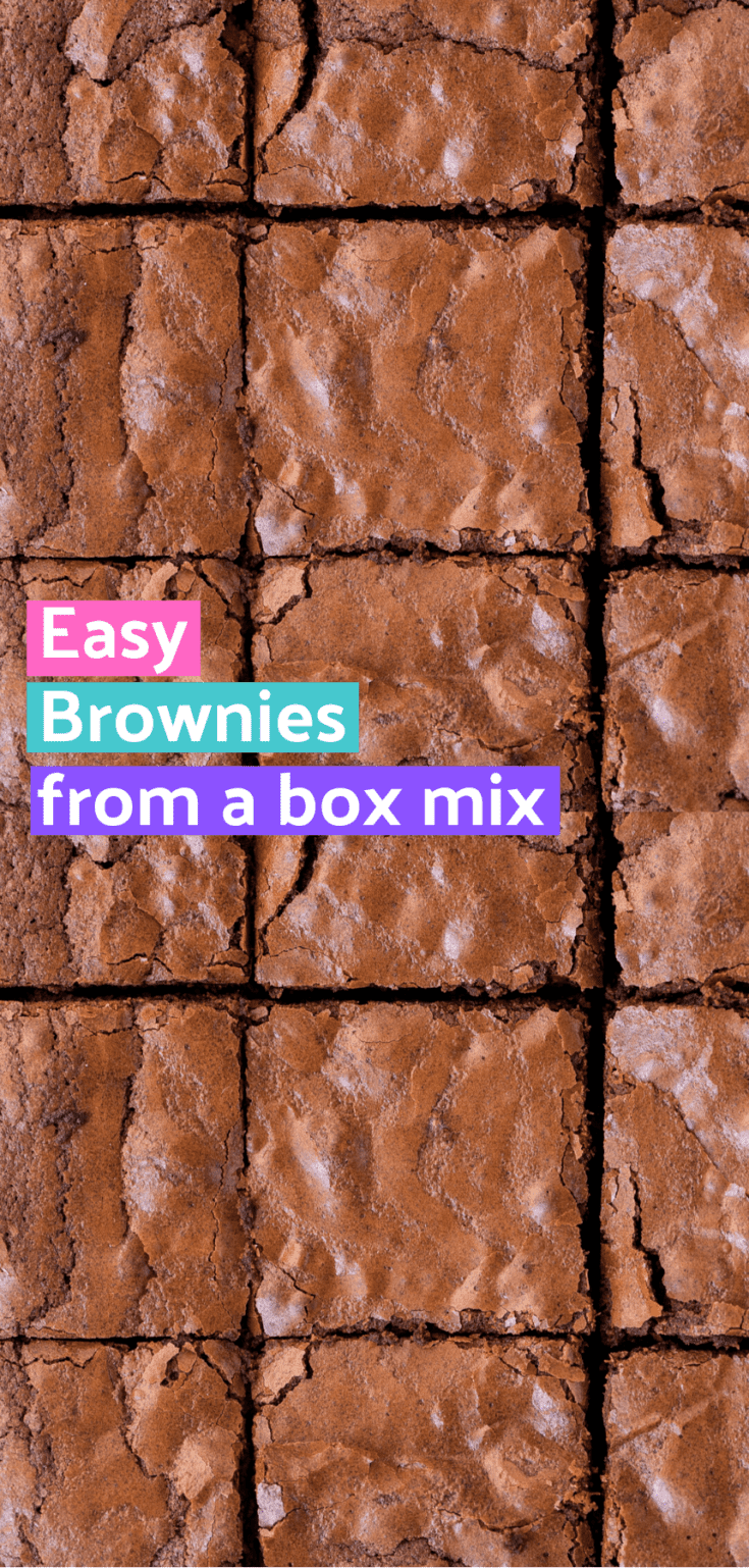 This is our family's favorite easy brownie recipe! Learn how to make box brownies better with these brownie mix hacks. A few ingredients creates an amazing doctored up brownie recipe from a box. #easybrownies #brownies #boxmixbrownies #boxmixbrowniesbetter