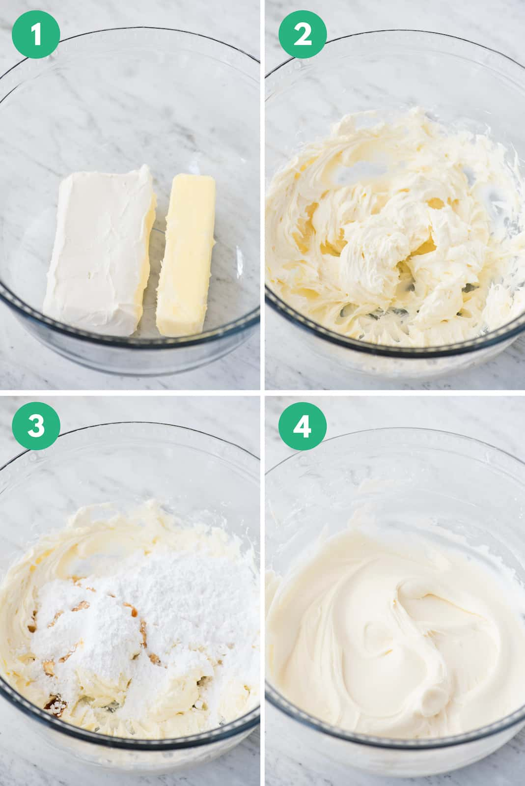 how to make cream cheese frosting collage