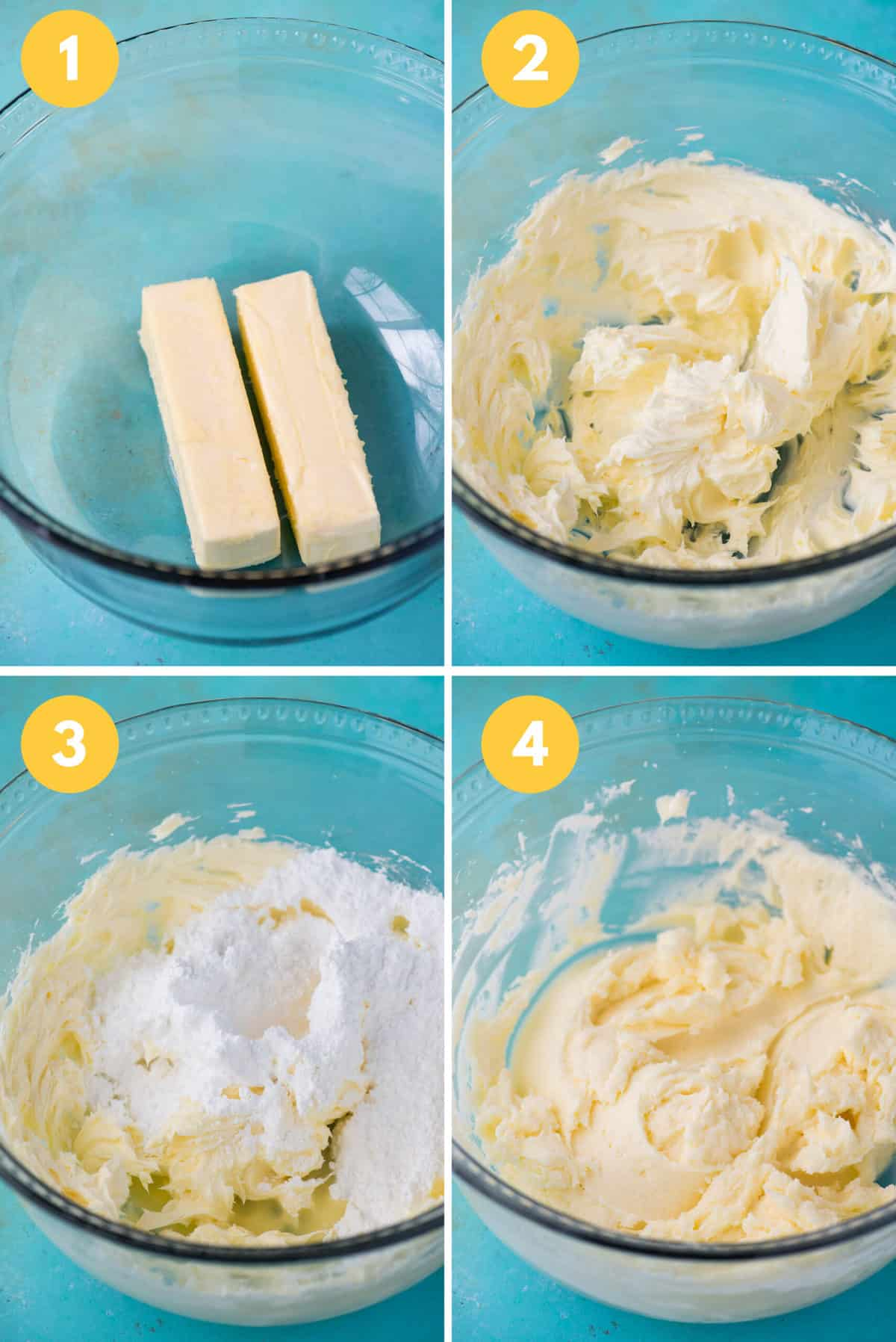 how to make lemon frosting collage