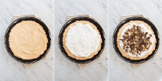 how to make peanut butter pie collage