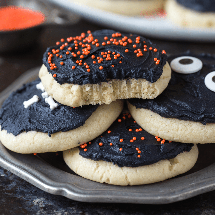 Frosted Halloween Sugar Cookies
