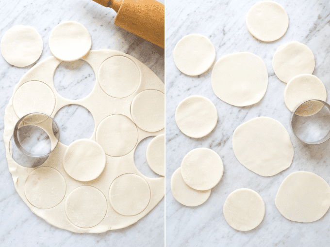 how to cut mini pie crusts collage