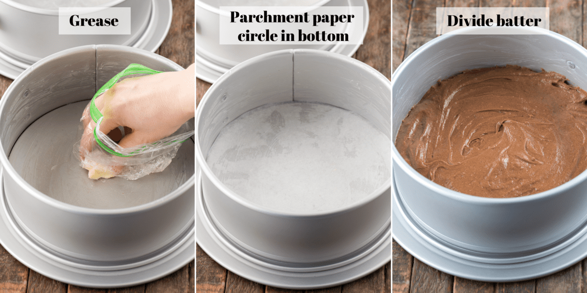 how to prepare a cake pan collage
