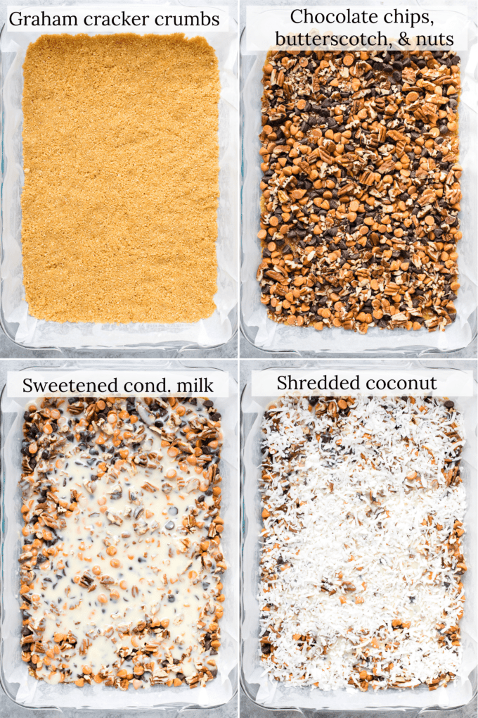 how to make magic bars step by step collage