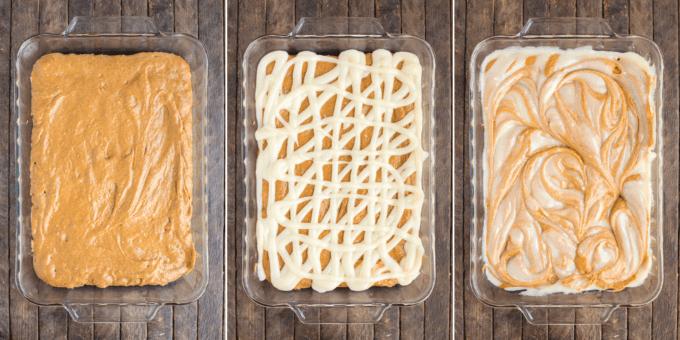 How to make pumpkin earthquake cake collage image